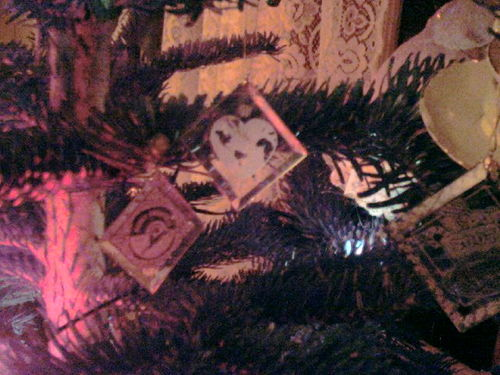 Ornaments on tree